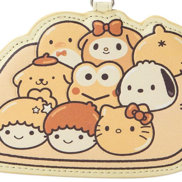 Hamee 日本正版 三麗鷗 手撕麵包系列 PU材質 零錢包 票卡夾 車票夾 珠鍊吊飾 kitty 053732