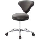 GXG 立體圓凳加椅背 工作椅(寬鋁腳) 型號81T2 LU1