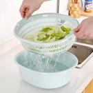 塑料雙層洗菜籃瀝水籃 廚房洗菜籃子家用多...