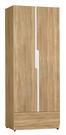 【森可家居】梅克爾2.5尺雙門衣櫃(單只-編號1) 7ZX139-5 衣櫥 木紋質感 無印風 北歐風