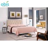 OB003-法莉嘉5尺雙人床(米黃布)(19CM/660-4)【DD House】