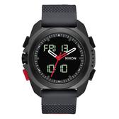 NIXON  科技城市多功能電子腕錶-黑X紅