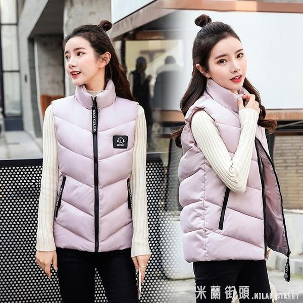 2019新韓版女裝修身顯瘦秋冬季羽絨棉服馬甲棉襖短款坎肩外套時尚