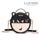側背包 貓咪樂園刺繡貓耳朵小圓包 3色 -La Poupee樂芙比質感包飾 (現貨+預購)