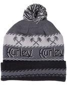 Hurley 男生 ORIGINAL 棕櫚圖騰 毛帽 毛線帽 - 灰