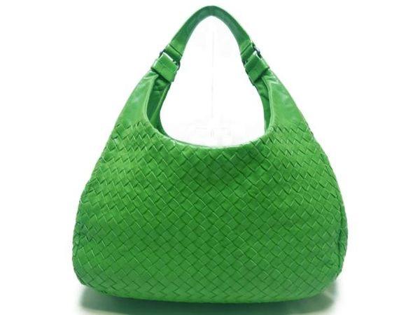 BOTTEGA VENETA 綠色編織羊皮手提肩背包 【BRAND OFF】