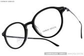 GIORGIO ARMANI 光學眼鏡 GA7124F 5017 (霧黑-藍) 百搭圓框款 # 金橘眼鏡