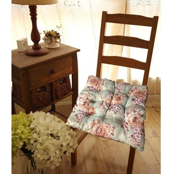 椅墊   薔薇花語椅墊 高級棉麻材質40*40  【ZMW008】-收納女王