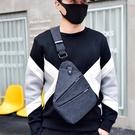 男士胸包單肩斜背運動背包多功能貼身防盜數碼收納槍休閒潮女小包 檸檬衣舍