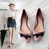 果凍鞋 涼鞋女夏 平底 韓國 學生包頭女淺口軟妹尖頭沙灘果凍單鞋41 瑪麗蘇