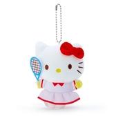 小禮堂 Hello Kitty 絨毛吊飾 玩偶吊飾 玩偶鑰匙圈 (紅白 應援啦啦隊) 4550337-64561