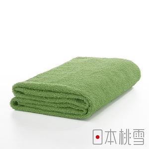 日本桃雪【精梳棉飯店浴巾】茶綠