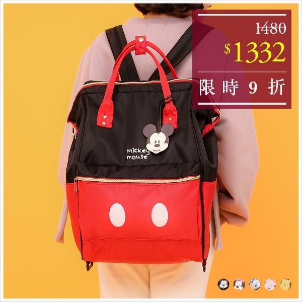 後背包-(大)迪士尼造型多功能防潑水旅行拉桿後背包-共5色-A10100143-天藍小舖