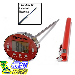 [106美國直購] 溫度計 KIES Precision Digital Thermometer-Instant Read-Best Stainless Steel