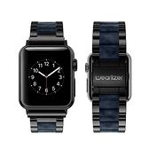強強滾-【Wearlizer】Apple Watch 6/5/4/3/2/1 代 不銹鋼錶帶 黑豹黑 附調整工具