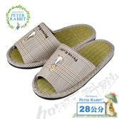【クロワッサン科羅沙】Peter Rabbit 經典細格室內草蓆拖鞋 (棕色28CM)