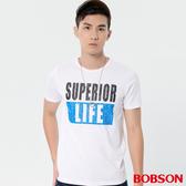 【BOBSON】男款涼感印圖上衣(28024-80 )