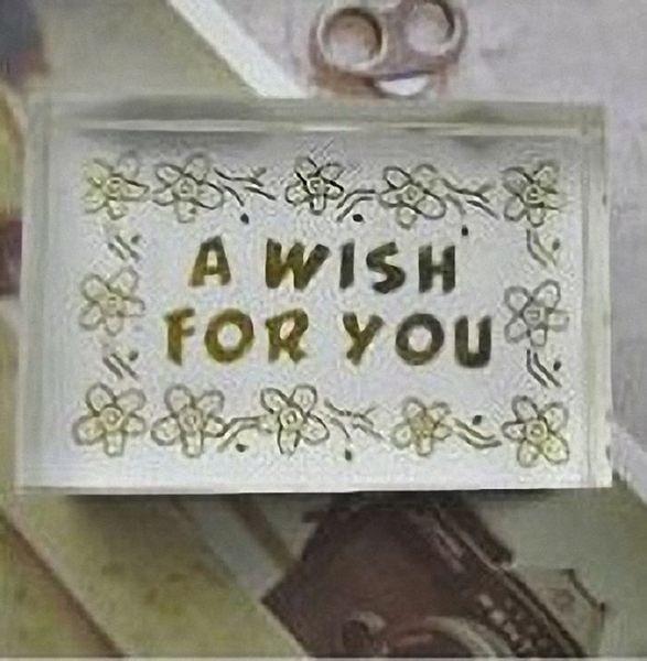 水晶印章 祝福詞 5款選-A wish for you【魔小物】「現貨5」