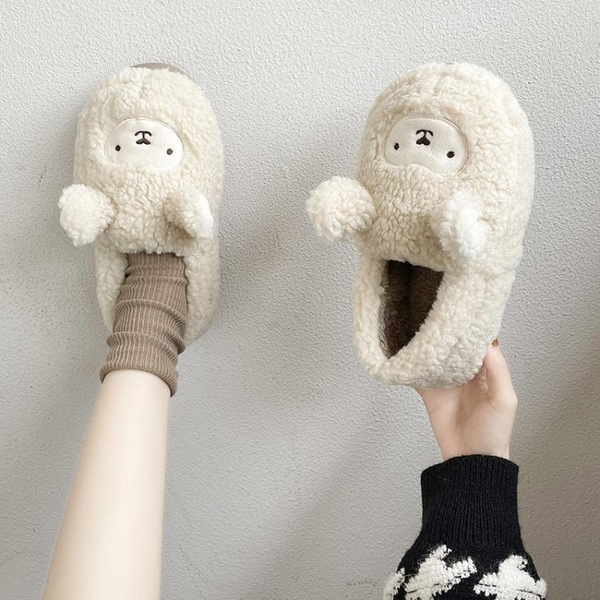 包頭毛毛拖鞋女外穿2020新款秋冬居家室內防滑韓版可愛保暖棉拖鞋 後街五號