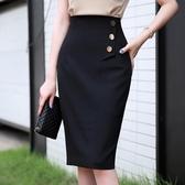 春秋韓版職業裙高腰半身裙中裙一步裙中長款包臀裙顯瘦正裝裙包裙