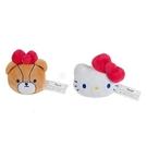 【震撼精品百貨】Hello Kitty 凱蒂貓~三麗鷗車用立體安全帶裝飾大頭玩偶(一組兩個入)#55828