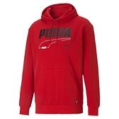 Puma Rebel 男款 紅色 連帽上衣 棉質 運動 休閒 保暖 長厚連帽 T恤 58574211