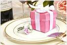 清倉特價↘29元↘數量有限↘售完為止- Pink粉紅盒鑽戒鑰匙圈-(透明)(粉色)(紫色) 3色可選