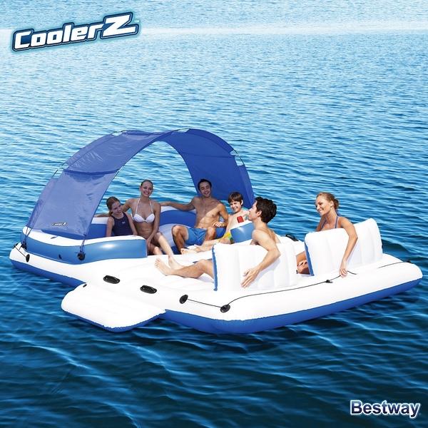 ★樂購王★CoolerZ Tropical Breeze Island 漂浮小島 派對豪華組  水上大型 充氣漂浮 踏水
