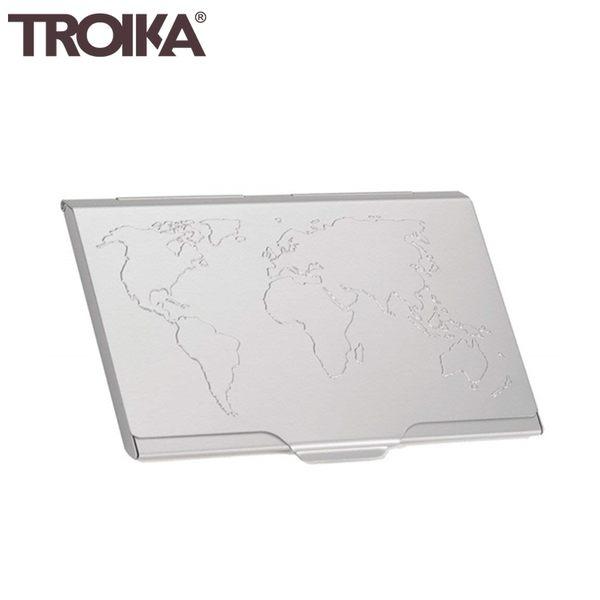 又敗家@德國TROIKA世界地圖防RFID夾名片夾信用卡夾CDC15-02防感應卡夾防NFC側錄輕薄隨身卡匣
