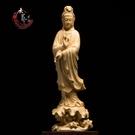黃楊木雕佛像觀世音菩薩家用供奉風水雕刻工...