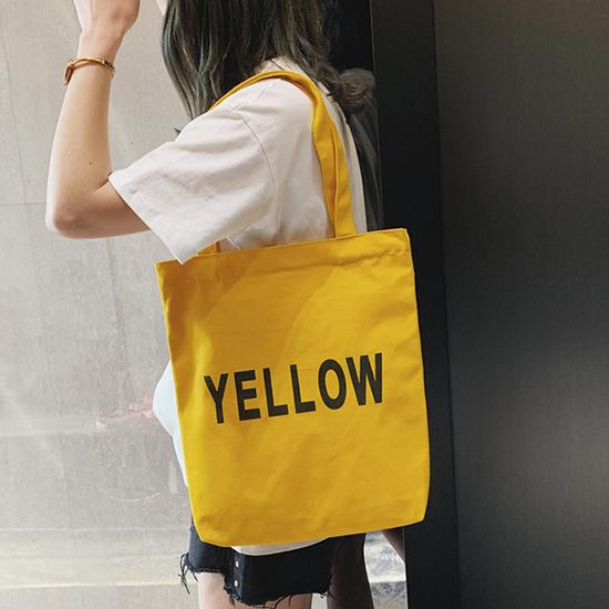 環保袋 帆布包 肩背包 單肩包 購物袋 側背包 手提 購物包 袋子 字母帆布袋(1個)【J049】生活家精品