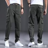 工作褲男 夏季薄款工人勞保褲耐磨寬鬆牛仔工作服褲子純棉 工裝褲 雙十一全館免運