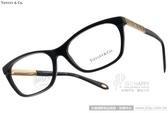 Tiffany&CO.光學眼鏡 TF2102 8001 (黑-金) 浪漫情懷 羅馬數字邊飾款 # 金橘眼鏡