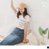 《AB12763-》台灣製造.好心情雲朵印圖竹節棉T恤/上衣 OB嚴選