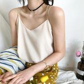 寬鬆內搭雙層雪紡背心女夏季韓版短款上衣性感復古外穿百搭小吊帶艾美時尚衣櫥