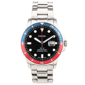 FOSSIL 藍色錶盤鋼帶男腕錶42mm(FS5657)270415