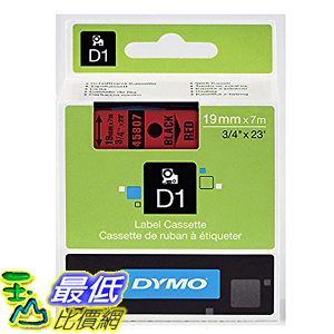 [美國直購] DYMO 45807 Standard D1 Self-Adhesive Polyester Tape for Label Makers 3/4 inch x 23 標籤紙