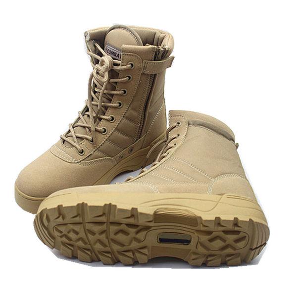 新品款07作戰靴戶外登山靴軍靴男特種兵陸戰戰術靴沙漠靴軍鞋免運直出 交換禮物