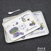 餐盤托盤家用長方形歐式水杯托盤茶盤創意水果盤水餃蛋糕餐盤北歐水果YYS 伊莎公主