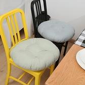 素色棉麻加厚坐墊地板坐墊圓墊子【櫻田川島】
