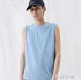 背心男潮內搭坎肩運動夏外穿上衣服男士純棉打底衫無袖T恤 『蜜桃時尚』