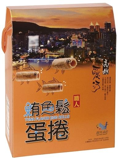 【味一食品】吮指鮪魚鬆蛋捲(愛河)(40g*4包/盒) *12盒