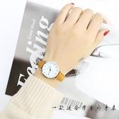 簡約夜光皮帶學生手錶男女中小學考試專用防水石英錶數字式電子錶 9號潮人館