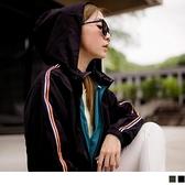 《EA2734-》街頭運動風連身帽長袖外套 OB嚴選