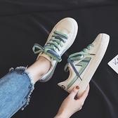 帆布鞋 網紅2021年春季夏天新款小白帆布鞋子女百搭超火抖音【快速出貨八折優惠】