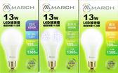 好商量~ MARCH 13W LED 燈泡 球泡燈 E27 全電壓