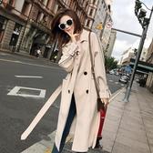 風衣 長款英倫風韓版寬鬆2020春秋季新款小個子外套薄