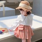 女童装 女童秋裝襯衫2020年新款韓版洋氣兒童春秋季女寶寶襯衣時髦上衣潮【快速出貨八折搶購】