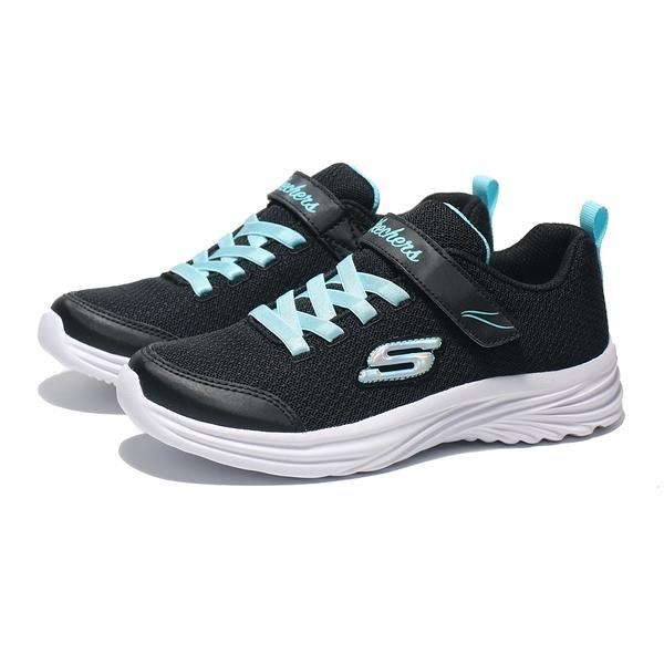 SKECHERS 休閒鞋 DREAMY DANCER 黑水藍 網布 鬆緊帶 中童 (布魯克林) 302450LBKTQ