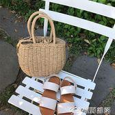 女包 編織包 正韓小清新手提草編包 沙灘包度假夏季女包 原野部落